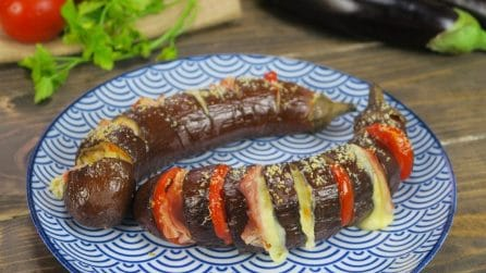 Hasselback eggplant: a unique way to prepare and serve this fantastic side-dish.