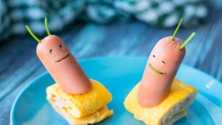 Lumachine di frittata: la ricetta simpatica e gustosa
