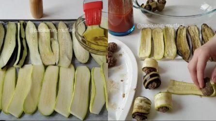Involtini di zucchine e melanzane: un secondo piatto da leccarsi i baffi