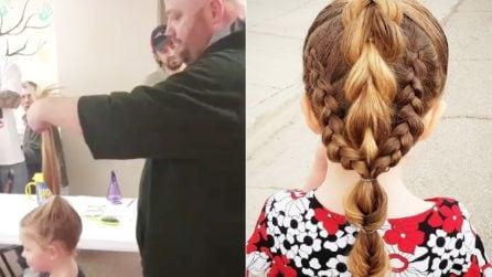 È diventato parrucchiere per amore di sua figlia: questo papà single ha trasformato la sua vita