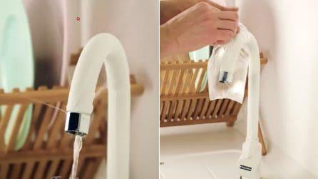 Schizzi d'acqua dal rubinetto: come eliminare il calcare con l'aceto