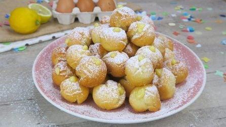 Castagnole alla ricotta ripiene di crema: il dolce di Carnevale che conquisterà tutti!