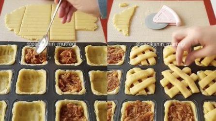 Mette mele cotte nell'impasto e ricopre così: una ricetta gustosa