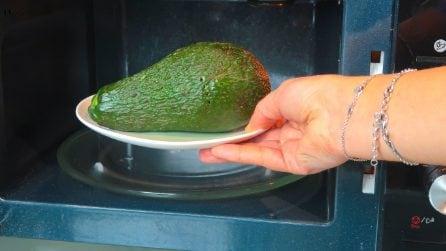 Mette l'avocado nel microonde: il trucchetto utile da provare