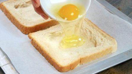 Versa l'uovo nel toast: la ricetta semplice e veloce