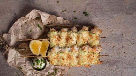 Spiedini di zucchine e gamberi: il piatto perfetto per mantenersi in linea con gusto!