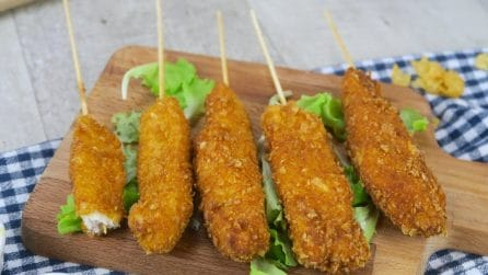 Fried chicken skewers: you will win everyone over at the dinner table!