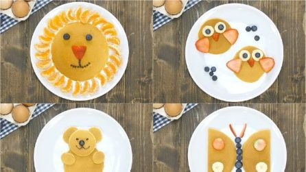 Animal pancakes: 4 fun ideas to get kids to eat fruit!
