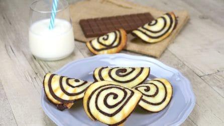 Cialde spirale di cioccolato: croccanti, sfiziose e originali!