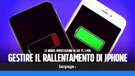 La nuova gestione della batteria di iPhone disattivare il rallentamento