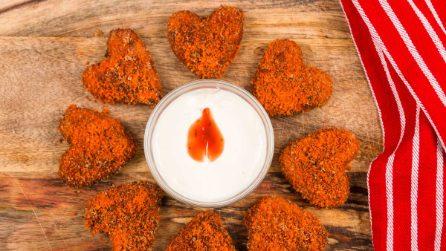 Mozzarella Valentines Hearts