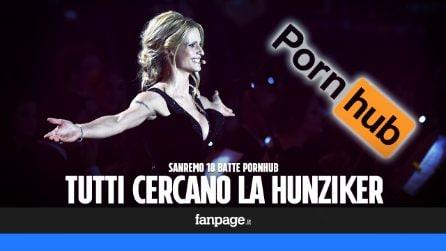 Sanremo 2018 batte Pornhub: tutti cercano la Hunziker