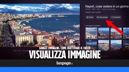 """Riavere il tasto """"Visualizza immagine"""" in Google Immagini"""