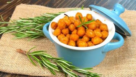 Snack di ceci croccanti al forno: la ricetta pronta in pochi minuti