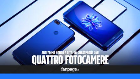 Anteprima Honor 9 lite, lo smartphone con 4 fotocamere: caratteristiche tecniche e prezzo in italia