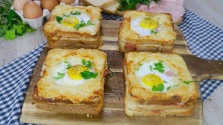 Toast con uovo ad occhio di bue: la versione super gustosa da provare subito!