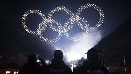 Spettacolo da record alle Olimpiadi 2018. 1200 droni entrano nel Guinness World Record