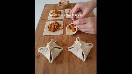 Sacchetti di pasta sfoglia ripieni: una ricette semplice e squisita