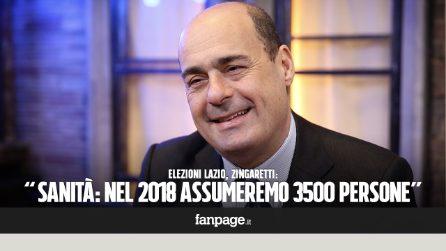 """Elezioni Lazio, Zingaretti: """"Sanità: finita la distruzione, quest'anno assunte 3500 persone"""""""