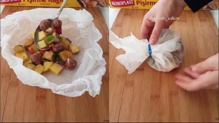 Polpettine al cartoccio con patate: una ricetta semplice e ottima