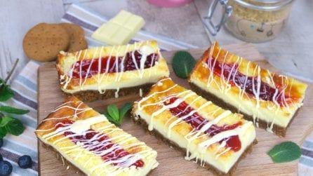 Barrette di cheesecake: ogni morso sarà una goduria!
