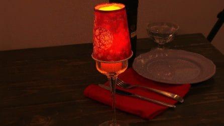 Come realizzare una lanterna con un bicchiere