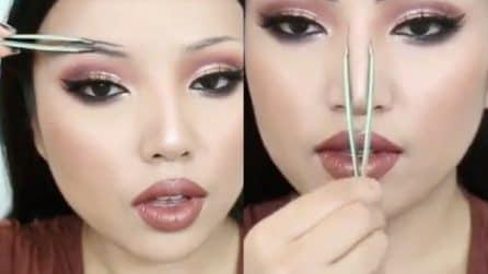 Usa la pinzetta per delineare il make up: il risultato è perfetto