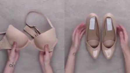 Scarpe col tacco, come alleviare il dolore ai piedi: provate con un reggiseno