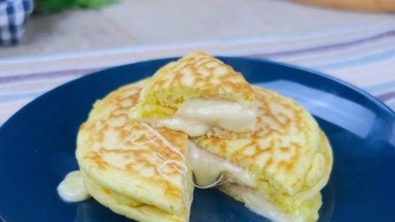 Pancakes salati in padella: alti, soffici e senza burro!