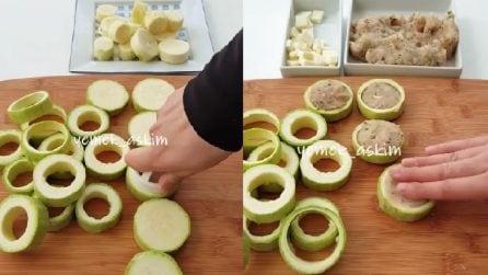 Medaglioni di zucchine ripieni: un piatto ricco e squisito