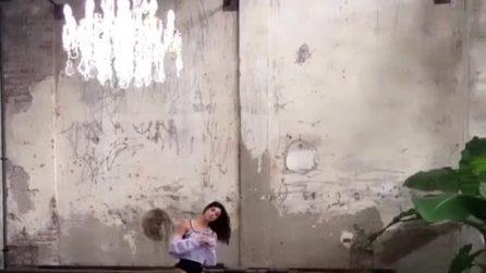 Belén Rodriguez diventa ballerina di danza classica