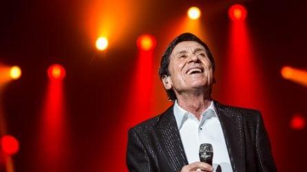 """Gianni Morandi live dall'Rds Stadium di Rimini per il """"d'amore d'autore"""" tour"""