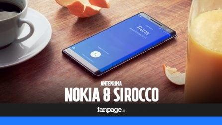 Nokia 8 Sirocco, caratteristiche tecniche e prezzo del top di gamma che sfida il Galaxy S9