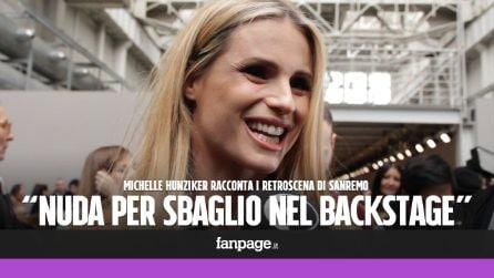 """Michelle Hunziker: """"A Sanremo nuda davanti a tutti per sbaglio, ero concentrata sul copione"""""""
