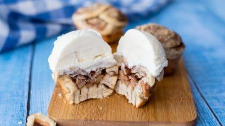 Muffin cinnamon roll