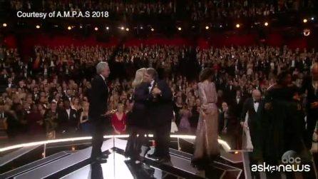 """Oscar 2018, vince """"La forma dell'acqua"""". Premiato """"Chiamami col tuo nome"""" di Guadagnino"""