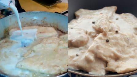 Petto di pollo al latte: un secondo piatto semplice e succulento