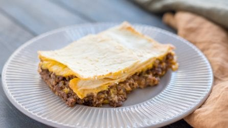 SheetPan Cheeseburger Quesadilla