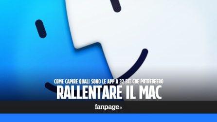 Capire quali app a 32 bit rallenteranno il Mac