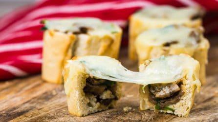 Mushroom Stuffed Baguette