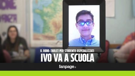 """""""Ivo va a scuola"""": studenti ospedalizzati seguono le lezioni grazie a un tablet montato su un robot"""