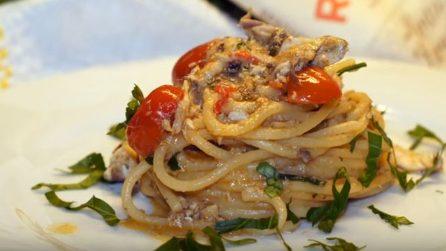 Spaghetti con pomodorini e alici fresche: un primo piatto da acquolina in bocca