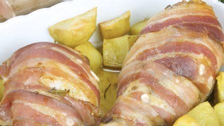 Cosce di pollo con senape e bacon: la ricetta da leccarsi i baffi!