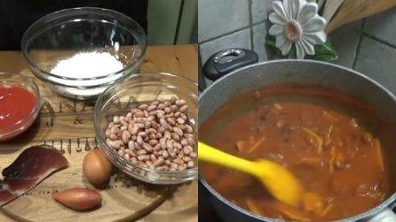 Pasta e fagioli con maltagliati fatti in casa: un primo piatto buonissimo