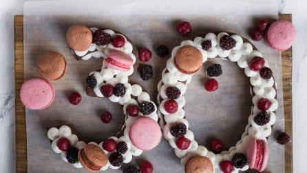Cream tart a forma di numero: la torta ideale per ogni festa di compleanno!
