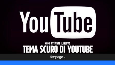 Come attivare il tema scuro su YouTube