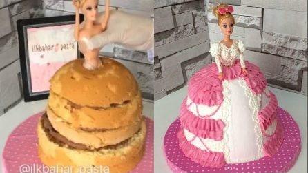 Infila la Barbie nella torta e realizza una decorazione stupenda