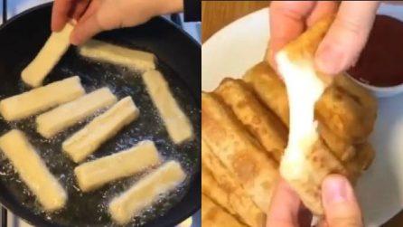 Bastoncini fritti con cuore filante: una ricetta veloce e ottima
