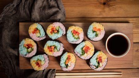 Sushi arcobaleno, l'idea gustosa e colorata da portare in tavola!