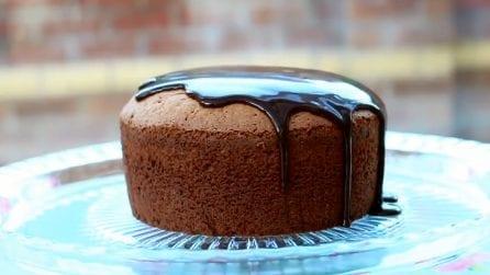 La ricetta per una golosissima sponge cake al cioccolato